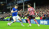Lincoln City's Bruno Andrade vies for possession with Everton's Jonjoe Kenny<br /> <br /> Photographer Andrew Vaughan/CameraSport<br /> <br /> Emirates FA Cup Third Round - Everton v Lincoln City - Saturday 5th January 2019 - Goodison Park - Liverpool<br />  <br /> World Copyright &copy; 2019 CameraSport. All rights reserved. 43 Linden Ave. Countesthorpe. Leicester. England. LE8 5PG - Tel: +44 (0) 116 277 4147 - admin@camerasport.com - www.camerasport.com