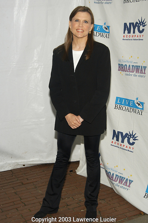 NEW YORK - JUNE 16: Actress Anne Reinking appears at Broadway Under The Stars June 16, 2003, in Bryant Park, New York City.