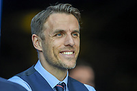 Orlando City, FL - Wednesday March 07, 2018: Phil Neville during a 2018 SheBelieves Cup match between the women's national teams of the United States (USA) and England (ENG) at Orlando City Stadium.