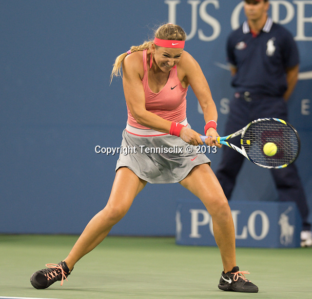 Victoria Azarenka (BLR) easily defeats Daniela Hantuchova (RUS)  6-2, 6-3 at the US Open being played at USTA Billie Jean King National Tennis Center in Flushing, NY on September 4, 2013