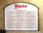 Lobby cast board for 'Panic! at The Disco's' Brendon Urie makes his broadway debut as 'Charlie Price' in 'Kinky Boots' on Broadway at The Al Hirschfeld Theatre on June 4, 2017 in New York City.