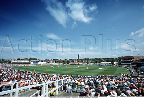 General View of HEADINGLEY, ENGLAND v South Africa, 980524 Photo:Glyn Kirk/Action Plus...Venues.Cricket.Crowd.1998.ground.grounds.venue