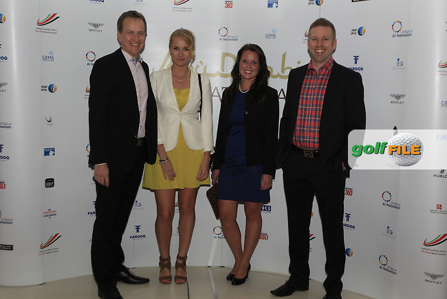Kalle Vainola, Bebe, Emma and Arte from Game Book during the 2015 Abu Dhabi Invitational Gala Evening held at The Viceroy Hotel, Yas Island, Abu Dhabi.: Picture Eoin Clarke, www.golffile.ie: 1/25/2015