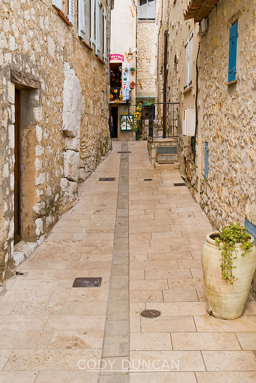 Streets of Gourdon, France