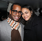 Daniel Breaker & Karen Olivo attending the Opening Night Performance After Party for the Manhattan Theatre Club's 'Murder Ballad' at Suite 55 in New York City on 11/15/2012