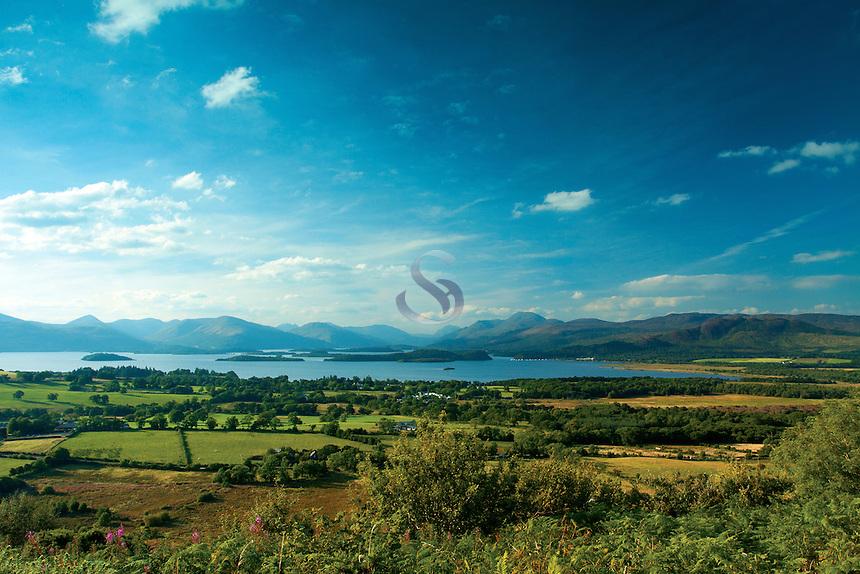 Loch Lomond, Ben Lomond and the Luss Hills, from Duncryne, Gartocharn, Loch Lomond and the Trossachs National Park, Argyll & Bute