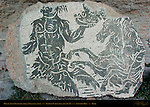 Servant Carrying Tray Horse and Rider Baths of Caracalla East Palaestra (Greek Wrestling Room) Mosaic Aventine Hill Rome