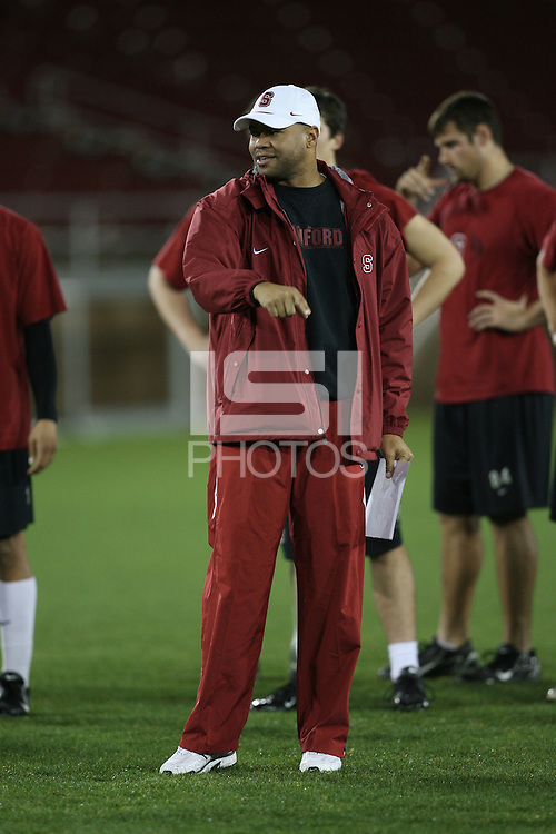 "9 February 2007: David Shaw during a ""Friday Night Lights"" practice at Stanford Stadium in Stanford, CA."