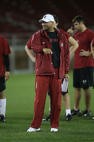 """9 February 2007: David Shaw during a """"Friday Night Lights"""" practice at Stanford Stadium in Stanford, CA."""