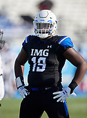 Demonte Capehart (19) - Norland Vikings (Miami) vs IMG Academy Football on October 26, 2019 at IMG Academy in Bradenton, Florida.  (Mike Janes Photography)