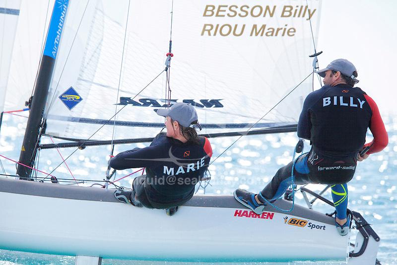 47 Trofeo S.A.R. Princesa Sofía IBEROSTAR Palma - Fédération Française de Voile. Nacra17, Billy Besson, Marie Riou.