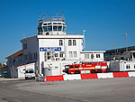 Royal Air Force airport control tower building  Gibraltar, British terroritory in southern Europe