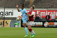Beth Mead of Arsenal Women and Nikita Parris of Manchester City Women during Arsenal Women vs Manchester City Women, FA Women's Super League FA WSL1 Football at Meadow Park on 12th May 2018