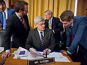 "United States Senator Bill Cassidy (Republican of Louisiana) goes over his notes prior to the US Senate Committee on Finance ""Hearing to Consider the Graham-Cassidy-Heller-Johnson Proposal"" on the repeal and replace of the Affordable Care Act (ACA) also known as ""ObamaCare"" in Washington, DC on Monday, September 25, 2017.<br /> Credit: Ron Sachs / CNP"