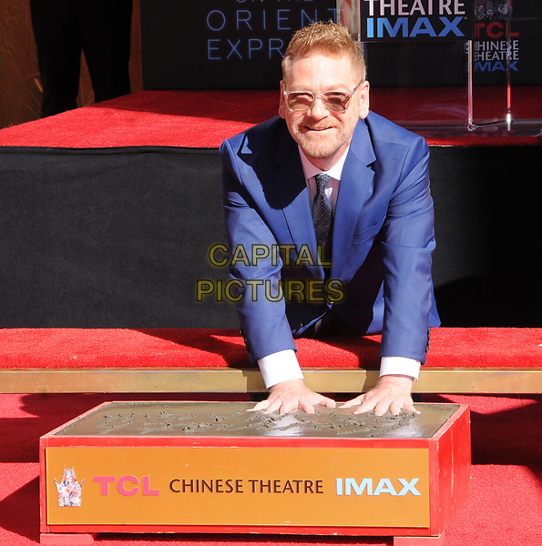 26 October  2017 - Hollywood, California - Kenneth Branagh. Kenneth Branagh Handprint-Footprint in Cement Ceremony held at TCL Chinese Theatre IMAX in Hollywood.  <br /> CAP/ADM/BT<br /> &copy;BT/ADM/Capital Pictures