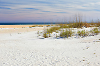 Colorful scene along the beach at Anastasia State Park near St. Augustine, Florida