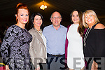 Paudi casey had his hands full at the Kerry Hurlers Strictly Come Dancing at The Marquee Stretford End Bar,Causeway on Saturday night l-r: Michelle Keane,Mairead O'Mahony,Paudi Casey,Siobhan Gilbert and Helen Maunsell.