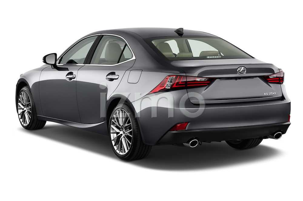 Rear three quarter view of a 2014 Lexus IS 250 Sedan
