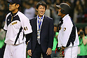 (L to R) <br /> Kazuhito Tadano, <br /> Sho Nakata (JPN), <br /> NOVEMBER 14, 2014 - Baseball : <br /> 2014 All Star Series Game 2 <br /> between Japan and MLB All Stars <br /> at Tokyo Dome in Tokyo, Japan. <br /> (Photo by YUTAKA/AFLO SPORT)[1040]