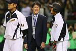 (L to R) <br /> Kazuhito Tadano, <br /> Sho Nakata (JPN), <br /> NOVEMBER 14, 2014 - Baseball : <br /> 2014 All Star Series Game 2 <br /> between Japan and MLB All Stars <br /> at Tokyo Dome in Tokyo, Japan. <br /> (Photo by YUTAKA/AFLO SPORT)[1040]