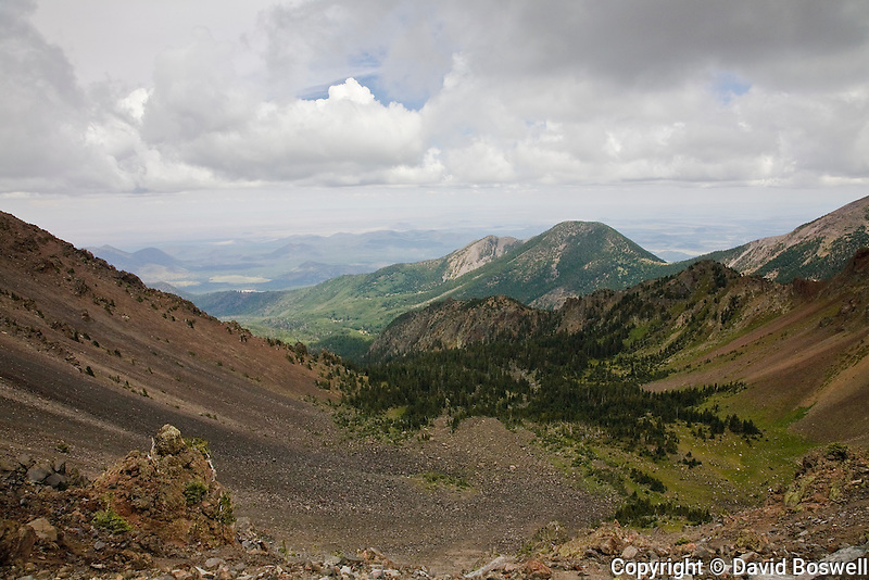 The Inner Basin, a caldera in the Kachina Wilderness Area north of Flagstaff.