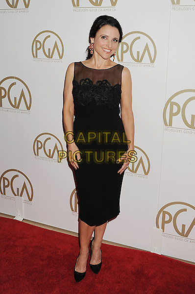 BEVERLY HILLS, CA- JANUARY 19: Actress Julia Louis-Dreyfus arrives at the 25th Annual Producers Guild Awards at The Beverly Hilton Hotel on January 19, 2014 in Beverly Hills, California.<br /> CAP/ROT/TM<br /> &copy;Tony Michaels/Roth Stock/Capital Pictures