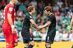 20.07.2019, Heinz-Dettmer-Stadion, Lohne, GER, Interwetten Cup, SV Werder Bremen vs 1. FC Koeln<br /> <br /> im Bild<br /> Jubel 1:0, Joshua Sargent (Werder Bremen #19) bejubelt seinen Treffer zum 1:0 mit Yuya Osako (Werder Bremen #08), <br /> <br /> Foto © nordphoto / Ewert