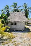 Accommodation on the beachfront on the remote island of Kiritimati in Kiribati