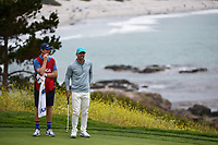 Paul Casey (GBR) looks over his putt on 8 during round 1 of the 2019 US Open, Pebble Beach Golf Links, Monterrey, California, USA. 6/13/2019.<br /> Picture: Golffile | Ken Murray<br /> <br /> All photo usage must carry mandatory copyright credit (© Golffile | Ken Murray)