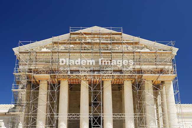 Scaffolding on the US Supreme Court building, 2007.
