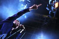 Roma 29/07/2013 Ippodromo Delle Capannelle. Blur in concerto durante il Rock In Roma 2013. <br /> Blur performs during the Rock In Roma 2013.<br /> Photo Mark Cape Insidefoto