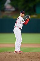 Springfield Cardinals pitcher Chandler Hawkins (28) gets ready to deliver a pitch during a game against the San Antonio Missions on June 4, 2017 at Hammons Field in Springfield, Missouri.  San Antonio defeated Springfield 6-1.  (Mike Janes/Four Seam Images)