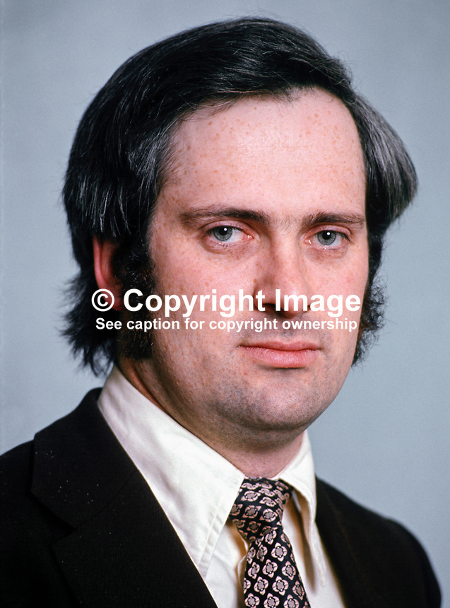 John Bruton, TD, Fine Gael, Rep of Ireland, Parliamentary Secretary to the Minister for Education & Industry & Commerce, March 1975, 197503000191a..Copyright Image from Victor Patterson, 54 Dorchester Park, Belfast, UK, BT9 6RJ..Tel: +44 28 9066 1296.Mob: +44 7802 353836.Voicemail +44 20 8816 7153.Skype: victorpattersonbelfast.Email: victorpatterson@me.com.Email: victorpatterson@ireland.com (back-up)..IMPORTANT: If you wish to use this image or any other of my images please go to www.victorpatterson.com and click on the Terms & Conditions. Then contact me by email or phone with the reference number(s) of the image(s) concerned.