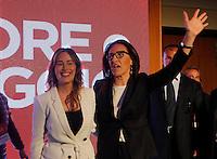 Presentazione di Valeria Valente candidato Sindaco alla Citta di Napoli<br /> la candidata con il ministro Maria Elena Boschi