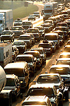 Houstonians sit in traffic on Interstate 10 West trying to evacuate the city ahead of Hurricane Rita Thursday morning Sept. 22,2005.
