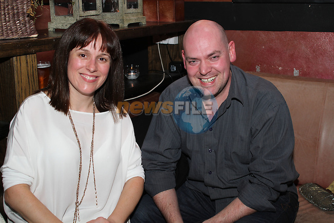 Gail McEvoy and Shane Doody at the Homeless Aid Fundraiser in the Black Bull...(Photo credit should read Jenny Matthews/www.newsfile.ie)....This Picture has been sent you under the conditions enclosed by:.Newsfile Ltd..The Studio,.Millmount Abbey,.Drogheda,.Co Meath..Ireland..Tel: +353(0)41-9871240.Fax: +353(0)41-9871260.GSM: +353(0)86-2500958.email: pictures@newsfile.ie.www.newsfile.ie.