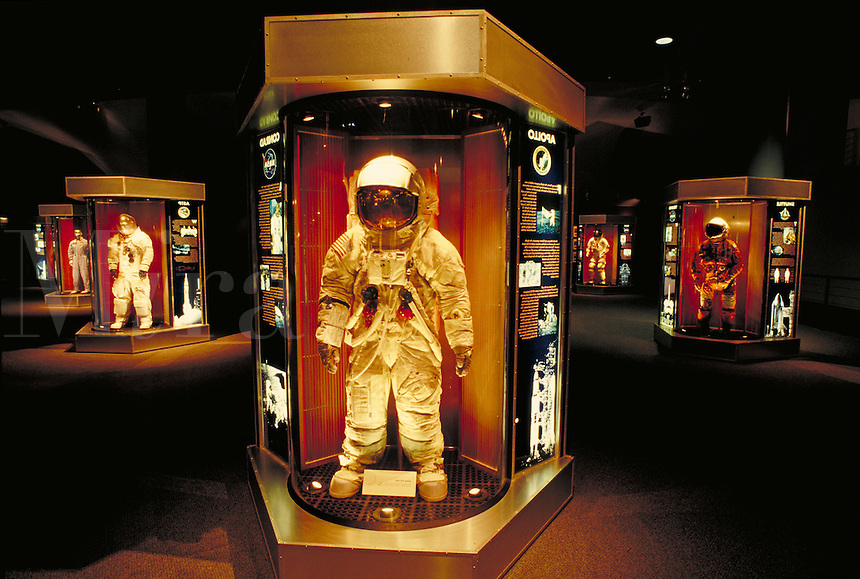 Space suit display at Space Center Houston