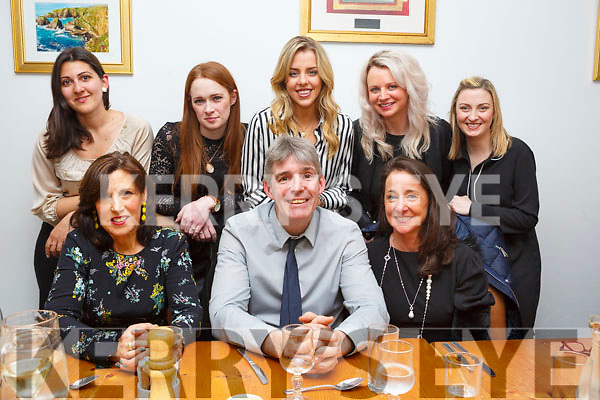 Connelly Jewellers enjoying a belated Christmas party in Bella Bia on Saturday night last.<br /> Seated l-r, Abina Leide, Martin Hartnett and Norma Connolly.<br /> Standing l-r, Jelena Vogdanovic, Katie O&rsquo;Reilly, Grace Boyle, Eire Ronan and Grace Griffin.