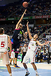 Movistar Estudiantes's Nacho Martin and Laboral Kutxa's Kim Tillie during Liga Endesa ACB at Barclays Center in Madrid, October 11, 2015.<br /> (ALTERPHOTOS/BorjaB.Hojas)