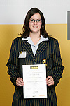 Girls Diving winner Charlotte Keesing-Styles. ASB College Sport Young Sportperson of the Year Awards 2007 held at Eden Park on November 15th, 2007.