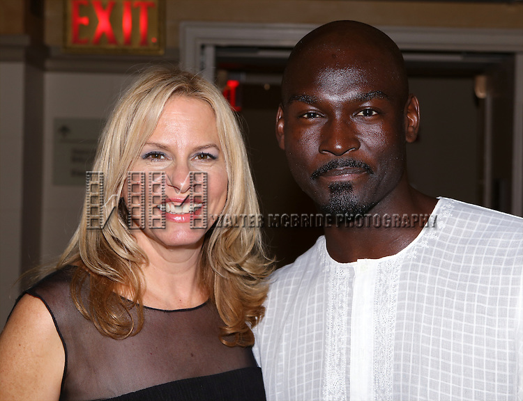 Vonda Shepard and Isaiah Johnson attends the after performance party for the New York City Center Encores! Off-Center production of 'Randy Newman's FAUST' - The Concert at City Center on July 1, 2014 in New York City.