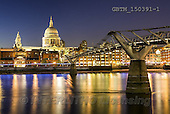 Tom Mackie, LANDSCAPES, LANDSCHAFTEN, PAISAJES, photos,+Britain, British, EU, England, English, Europa, Europe, European, Great Britain, London, Millennium Bridge, River Thames, St.+Paul's Cathedral, UK, United Kingdom, blue, blue hour, building, buildings, capital, cities, city, city break, cityscape, ho+rizontal, horizontals, night shot, night time, nightscene, reflect, reflecting, reflection, reflections, river, time of day,+twilight, urban, water, water's edge, yellow,Britain, British, EU, England, English, Europa, Europe, European, Great Britain,+,GBTM150391-1,#l#