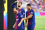 52e Trofeu Joan Gamper.<br /> FC Barcelona vs Chapecoense: 5-0.<br /> Lionel Messi, Gerard Pique &amp; Luis Suarez.