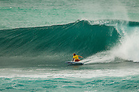 HONOLULU - (Tuesday, November 27, 2012) Koa Smith (HAW). -- The VANS World Cup of Surfing, a ASP Prime Event with$250,000 in prize-money  officially got  underway at Sunset Beach today, with waves in the 5-7 foot range. The second jewel of the $1M VANS Triple Crown of Surfing, the VANS World Cup will require four full days of competition between now and December 6...Winner of the first jewel - the REEF Hawaiian Pro - last week was Sebastian Zietz (HAW). Zietz is seeded through to the round of 64 and will surf on Day 3 of the competition...Surfing today are: Pancho Sullivan (HAW) Nathan Hedge (AUS); Ezekiel Lau (HAW); Ricardo Dos Santos (BRA); Ian Walsh (HAW); Ian Gentil (HAW); Garrett parkes (AUS);  and Mason Ho (HAW) all advanced today.  Photo: joliphotos.com