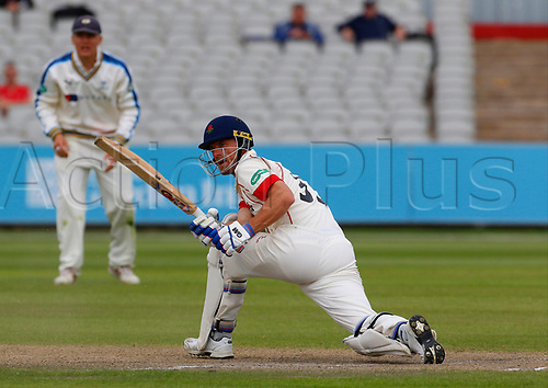May 21st 2017, Emirates Old Trafford, Manchester, England; Specsavers County Championship Division One; Day Three; Lancashire versus Yorkshire; Dane Vilas of Lancashire at the crease during the Lancashire first innings