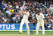 3rd December 2017, Adelaide Oval, Adelaide, Australia; The Ashes Series, Second Test, Day 2, Australia versus England; Shaun Marsh of Australia plays a high shot back up the wicket