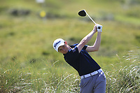 Ronan Mullarney (Galway) on the 4th tee during the Final of the AIG Irish Amateur Close Championship 2019 in Ballybunion Golf Club, Ballybunion, Co. Kerry on Wednesday 7th August 2019.<br /> <br /> Picture:  Thos Caffrey / www.golffile.ie<br /> <br /> All photos usage must carry mandatory copyright credit (© Golffile | Thos Caffrey)