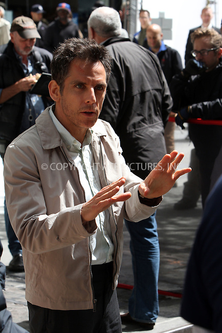 WWW.ACEPIXS.COM . . . . .  ....May 7 2012, New York City....Actor Ben Stiller on the set of the new movie 'The secret life of Walter Mitty' on May 7 2012 in New York City......Please byline: Zelig Shaul - ACE PICTURES.... *** ***..Ace Pictures, Inc:  ..Philip Vaughan (212) 243-8787 or (646) 769 0430..e-mail: info@acepixs.com..web: http://www.acepixs.com