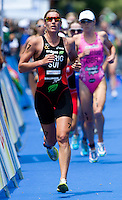 05 JUN 2010 - MADRID, ESP - Nicola Spirig - Womens ITU World Championship Series triathlon (PHOTO (C) NIGEL FARROW)