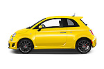 Car Driver side profile view of a 2016 Fiat 500 Abarth 3 Door Hatchback Side View